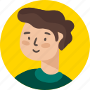 avatar, boy, education, people, person, profile, school icon
