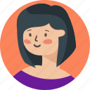 assistant, avatar, girl, face, person, profile, user
