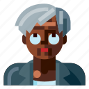 afro, avatar, business, old, portrait, profile, woman