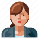 avatar, business, human, portrait, profile, user, woman icon