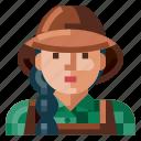 avatar, farmer, female, human, portrait, profile, user icon