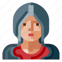avatar, hoodie, human, portrait, profile, user icon
