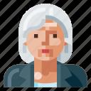 avatar, business, human, old, portrait, profile, woman