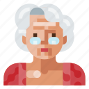 avatar, human, old, portrait, profile, user, woman icon