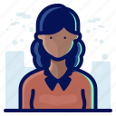account, avatar, female, people, user, woman icon