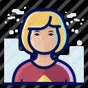 account, avatar, female, user, woman icon