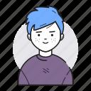 avatar, boy, male, man account, user icon