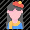 artist, avatar, female, job, profile icon