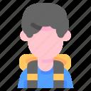 avatar, backpacker, camera, man, photo, travel, trip icon