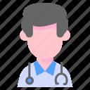 avatar, doctor, man, medic, people icon