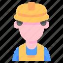 avatar, builder, industrial, job, occupation, profession, worker icon