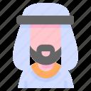 avatar, man, muslim, people, user icon