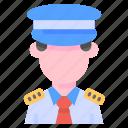 avatar, captain, crew, pilot icon
