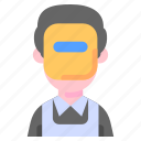 avatar, man, profession, welder icon