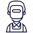 avatar, man, profession, welder
