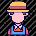 avatar, farmer, gardener, occupation icon