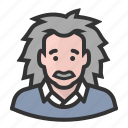 albert einstein, avatars, scientist icon