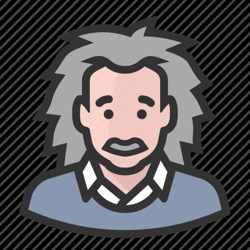 albert einstein, avatar, einstein, hair, persona, user icon