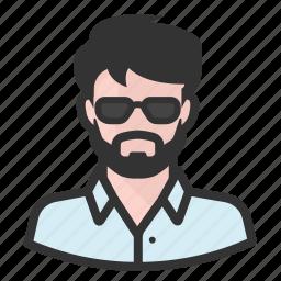 avatar, avatars, beard, hipster, man icon