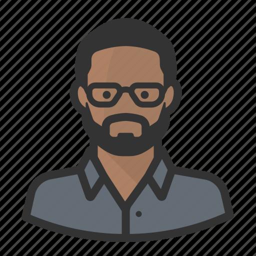 avatar, avatars, beard, black man icon