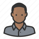 avatar, black man, man, persona, shaven, user icon