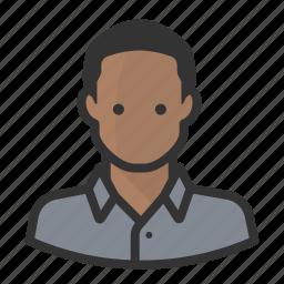 avatar, black man, man, persona, shaven, user icon