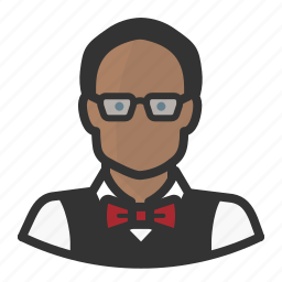 avatar, black man, man, persona, professor, user icon