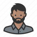 avatar, beard, hipster, indian, man, persona, user icon