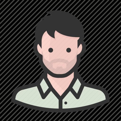 avatar, man, persona, stubble, user icon