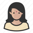 avatar, indian, modern, persona, user, woman icon