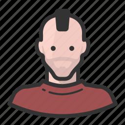 avatar, man, mohawk, persona, punk, user icon