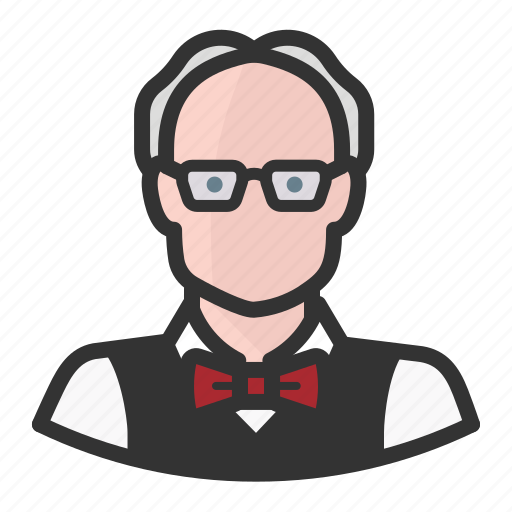 avatar, avatars, man, professor icon