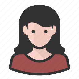 avatar, hair, persona, user, white, woman icon