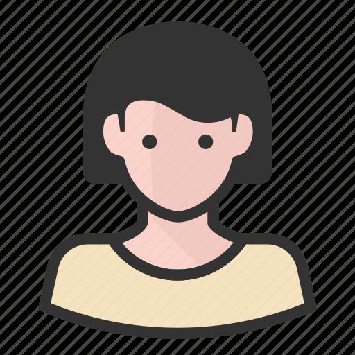 avatars, girl, woman icon