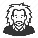 albert einstein, avatar, avatars, man, scientist icon