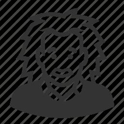 albert einstein, avatar, man, scientist icon