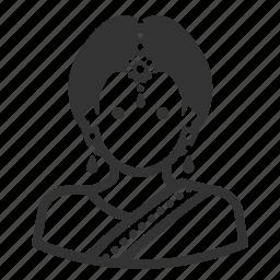 avatar, hindu, woman icon