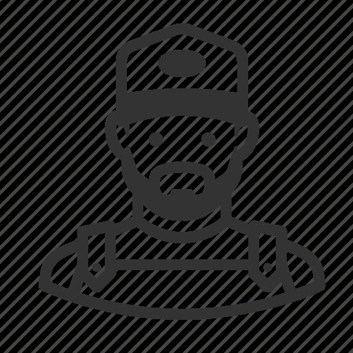 avatar, avatars, beard, farmer, man icon