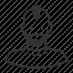 avatar, avatars, man, mohawk, punk icon