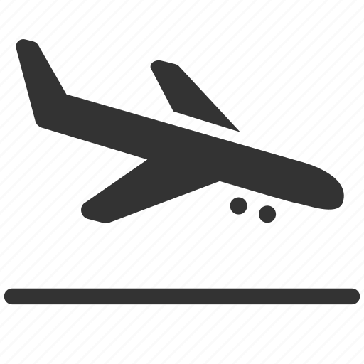 Aircraft Airport Arrival Hall Arrivals Landing Plane Terminal Icon