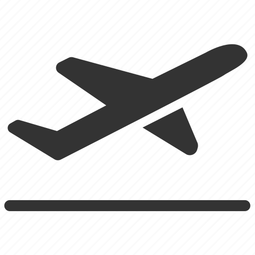 Airplane Airport Departures Flying Takeoff Terminal Travel Icon