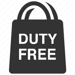 airport shop, bag, duty free, shop, shopping, shopping bag, travel icon