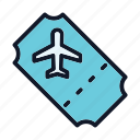 air, aircraft, aviation, ticket icon