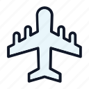 air, aircraft, aviation, plane icon