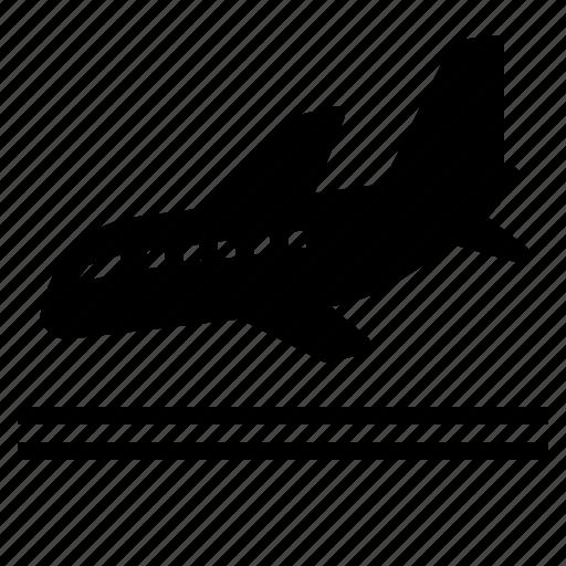 arrival, destination, flight, landing, plane, travel icon