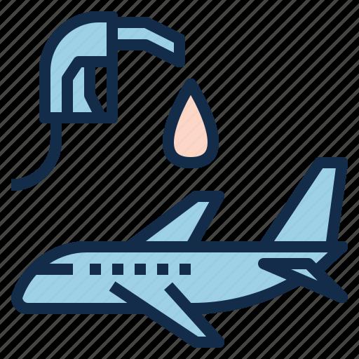 airplane, aviation, dumping, fuel, maintenance, power icon