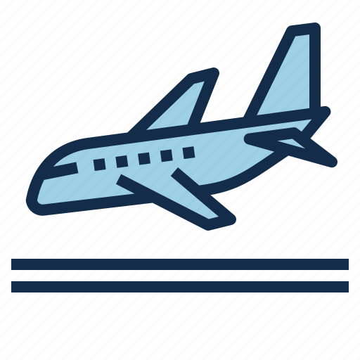 arrival, destination, flight, landing, plane, travel icon