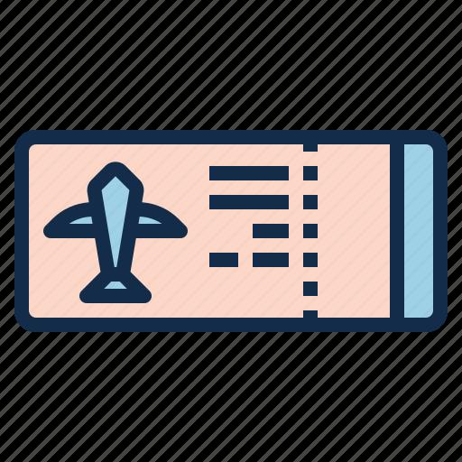 aircraft, aviation, boarding, flight, pass, ticket icon