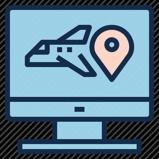check, flight, location, plane, route, status icon