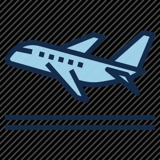 aviation, departure, off, plane, take, travel, trip icon